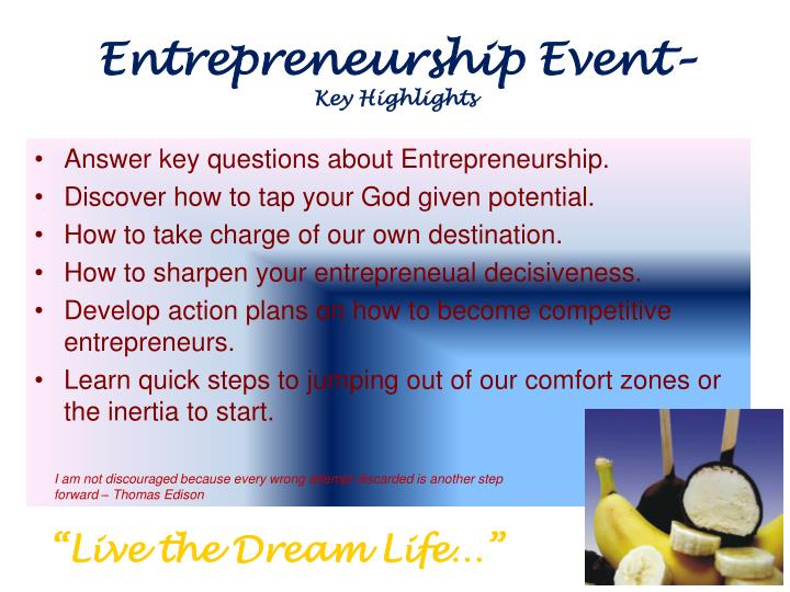Entrepreneurship Event–