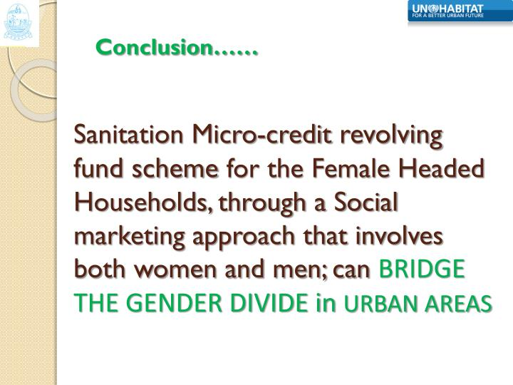 Sanitation Micro-credit