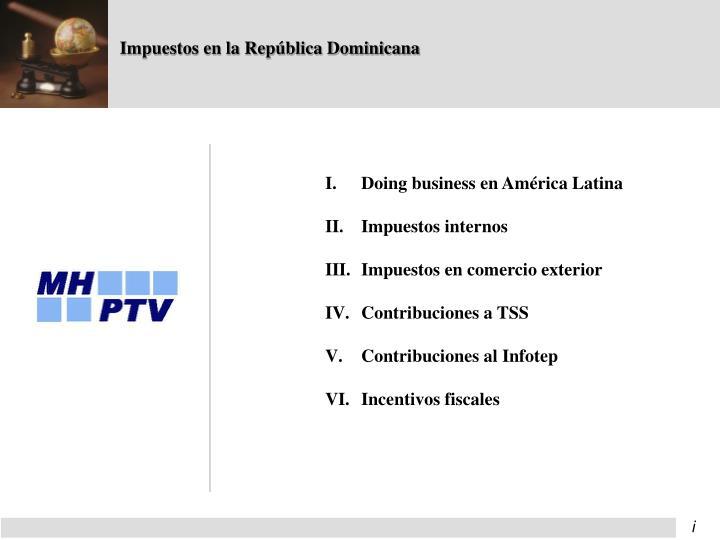 Impuestos en la República Dominicana