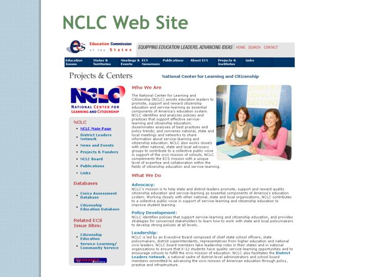 NCLC Web Site