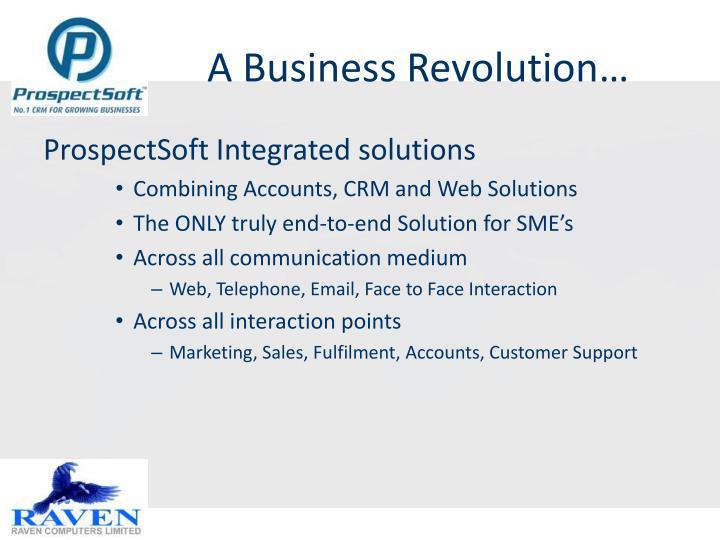 A Business Revolution…