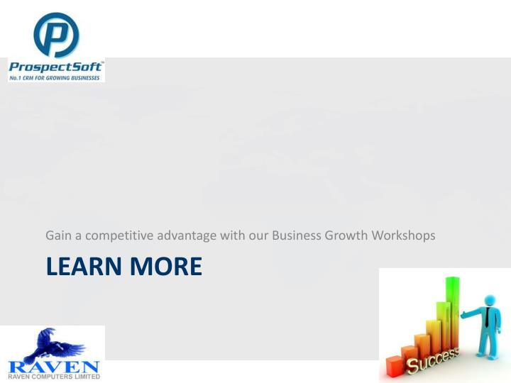 Gain a competitive advantage with our Business Growth Workshops