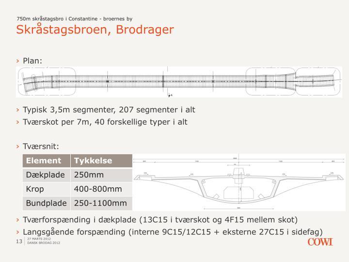 750m skråstagsbro i