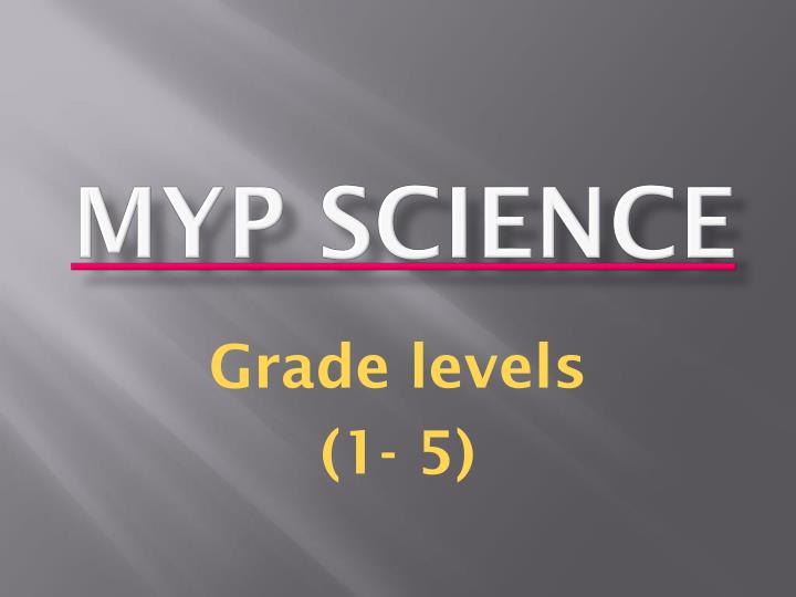 Myp science