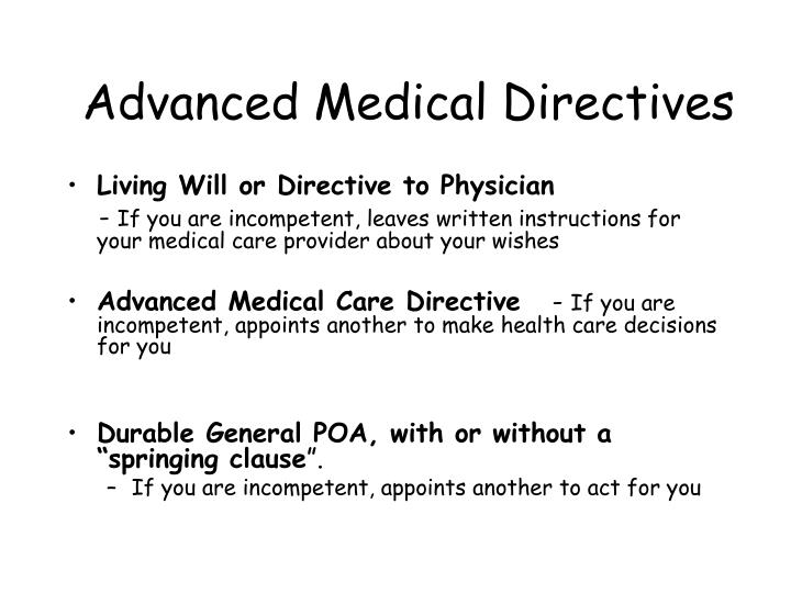 Advanced Medical Directives