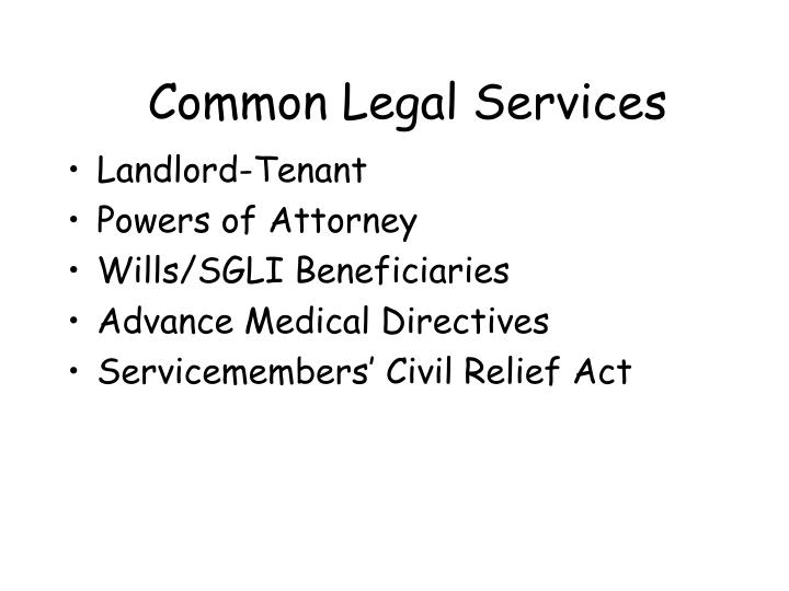 Common Legal Services
