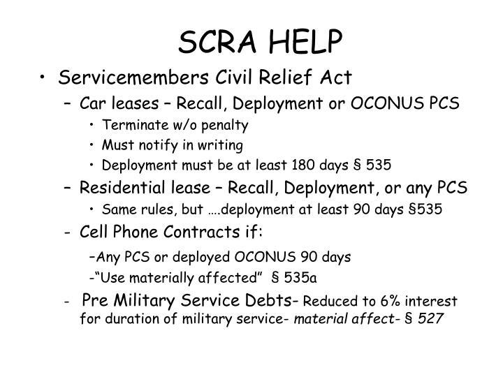 SCRA HELP