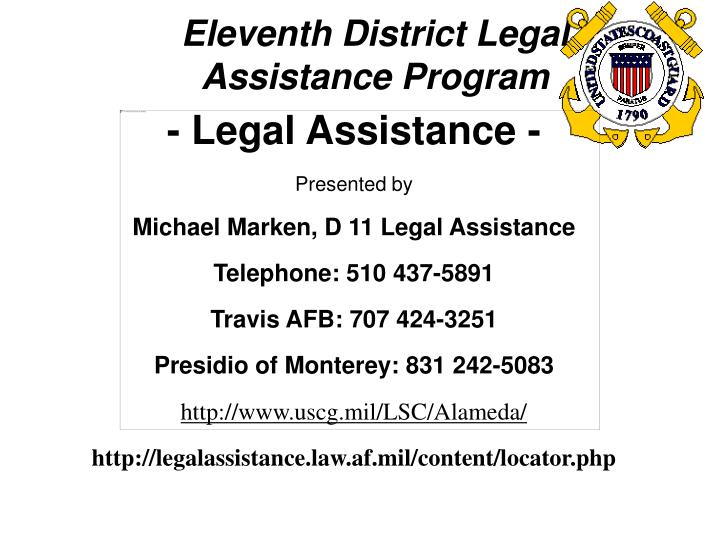Eleventh District Legal Assistance Program
