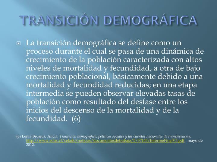 TRANSICIN DEMOGRFICA