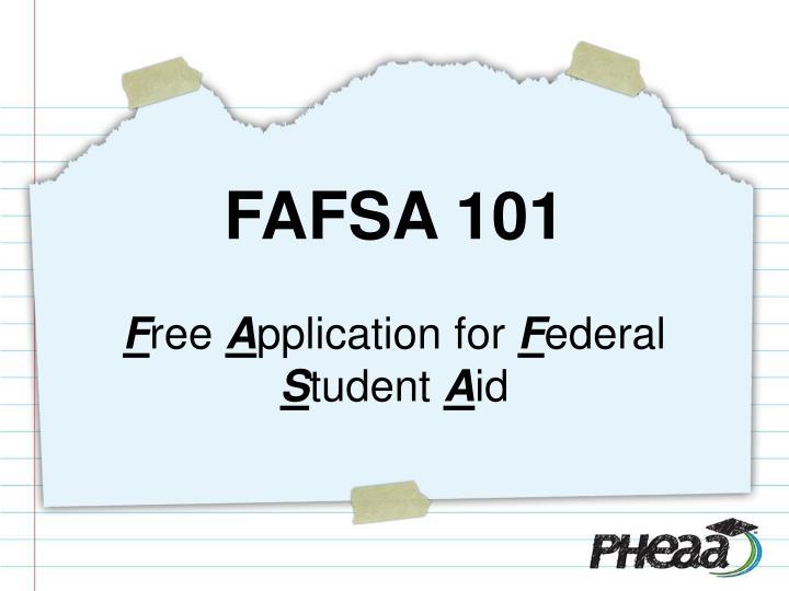 FAFSA 101