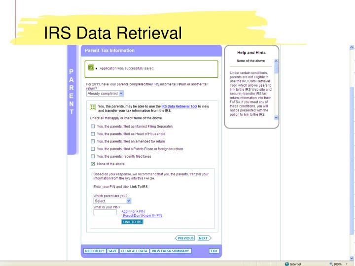 IRS Data Retrieval