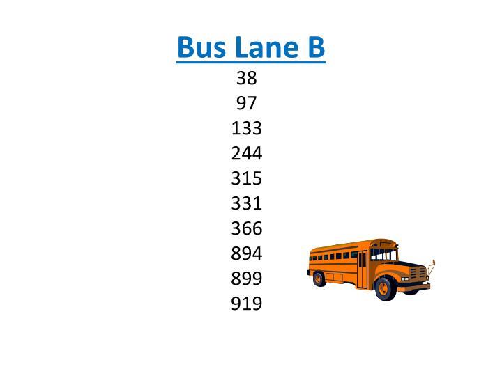 Bus Lane B