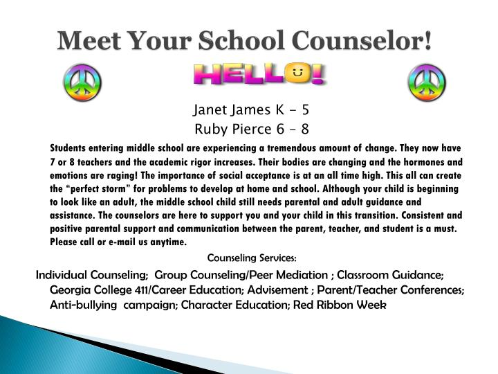 Meet Your School Counselor!