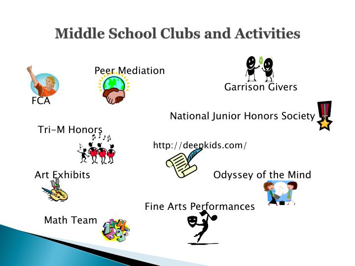 Middle School Clubs and Activities