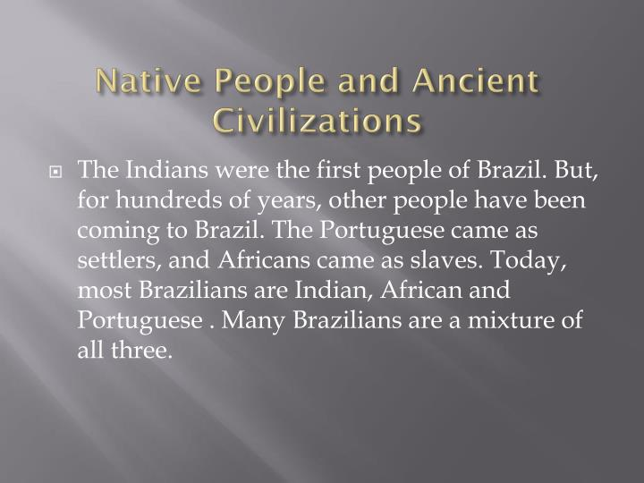 Native People and Ancient Civilizations