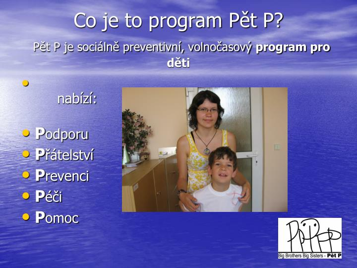 Co je to program Pět P?