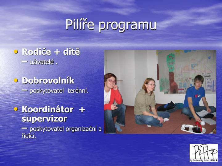 Pilíře programu