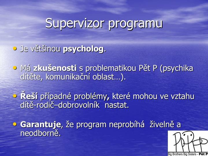 Supervizor programu
