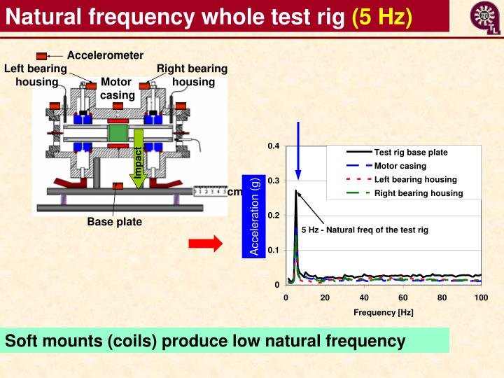Natural frequency whole test rig