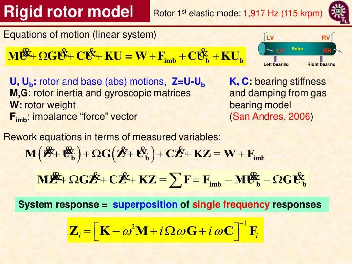 Rigid rotor model