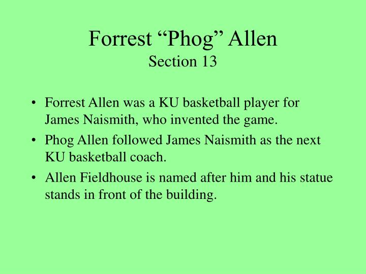 """Forrest """"Phog"""" Allen"""