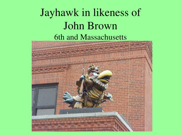 Jayhawk in likeness of