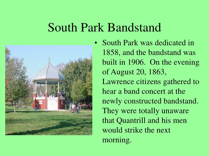 South Park Bandstand