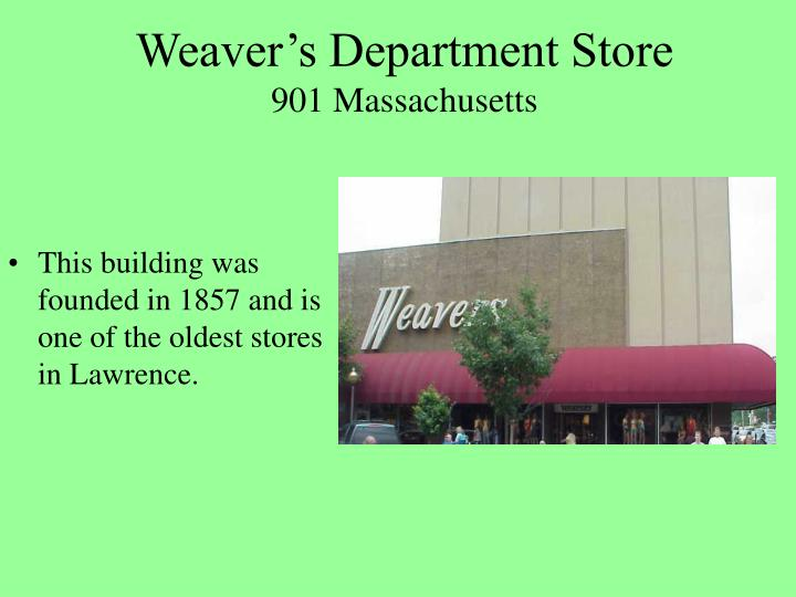 Weaver's Department Store