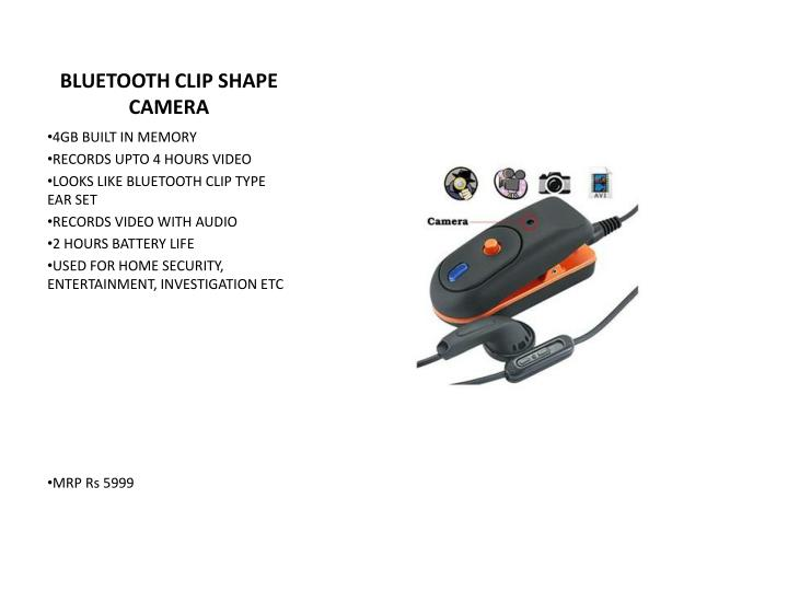 BLUETOOTH CLIP SHAPE CAMERA