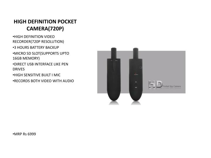 HIGH DEFINITION POCKET CAMERA(720P)