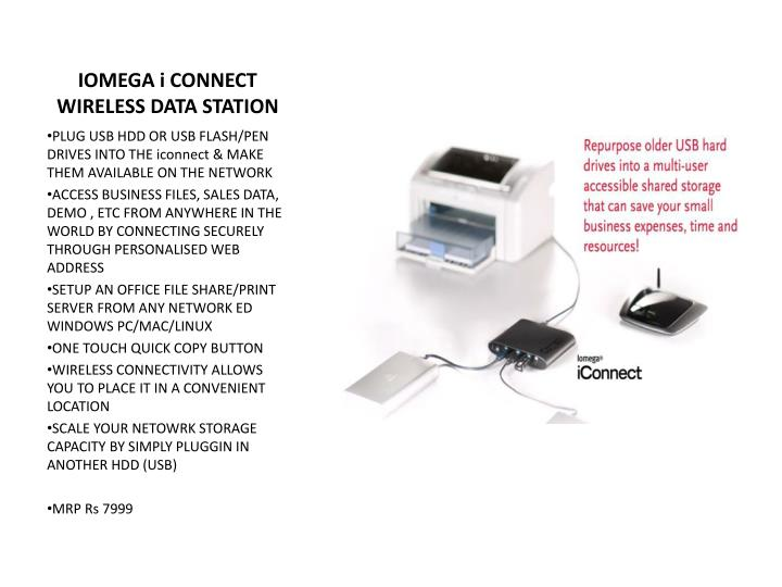 IOMEGA i CONNECT WIRELESS DATA STATION