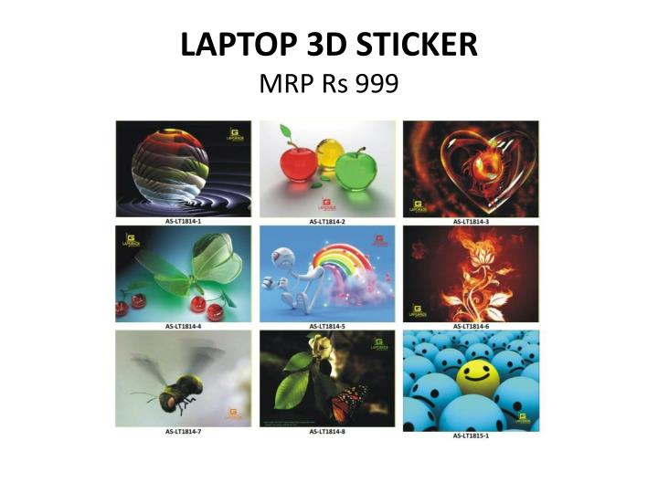 LAPTOP 3D STICKER