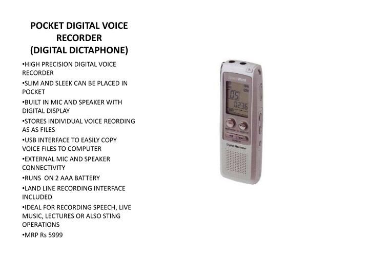 POCKET DIGITAL VOICE RECORDER