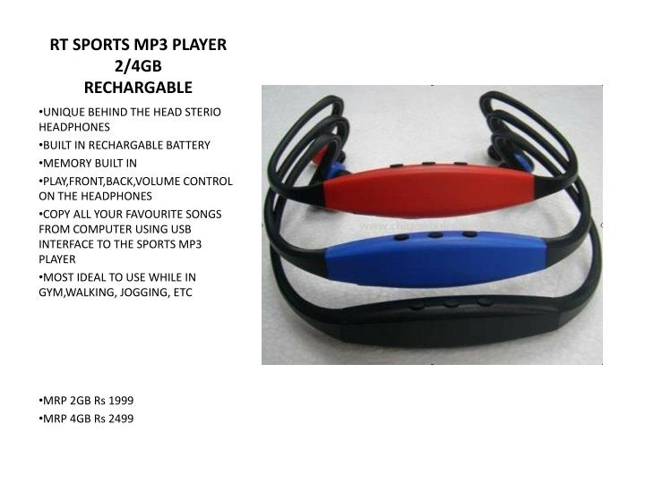 RT SPORTS MP3 PLAYER