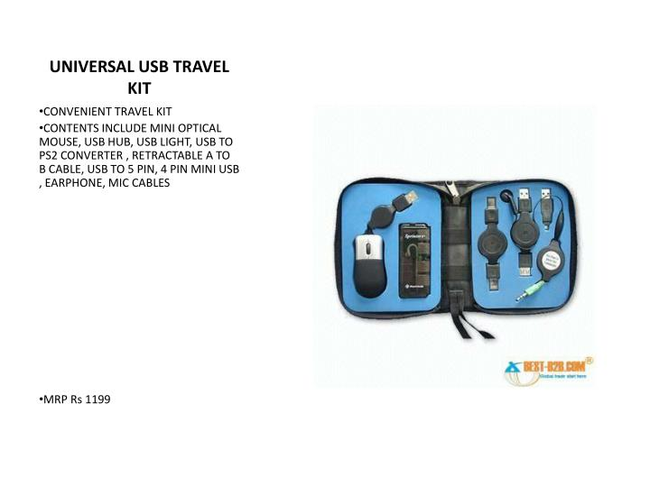 UNIVERSAL USB TRAVEL KIT