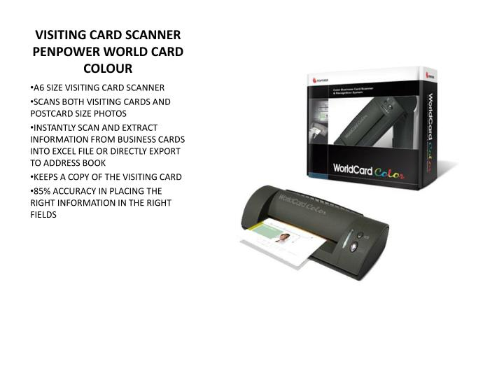 VISITING CARD SCANNER