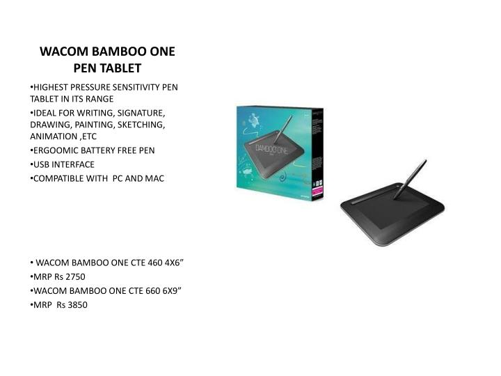 WACOM BAMBOO ONE PEN TABLET