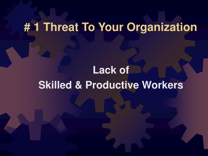 # 1 Threat To Your Organization