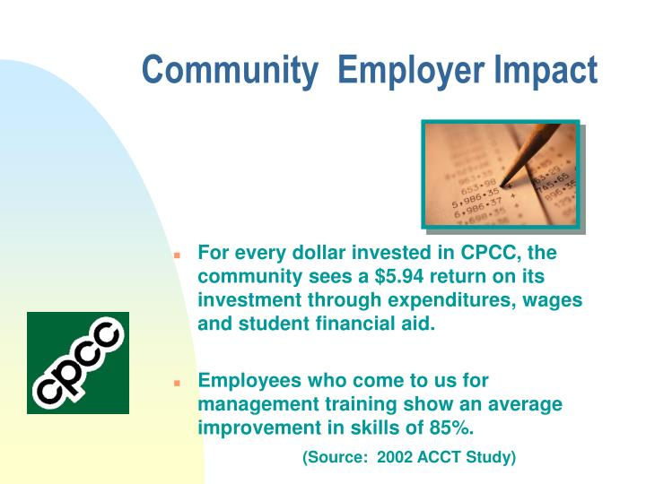 Community  Employer Impact