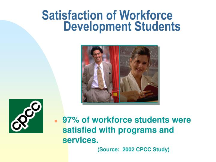 Satisfaction of Workforce 	Development Students