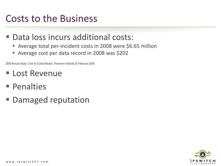 Costs to the Business