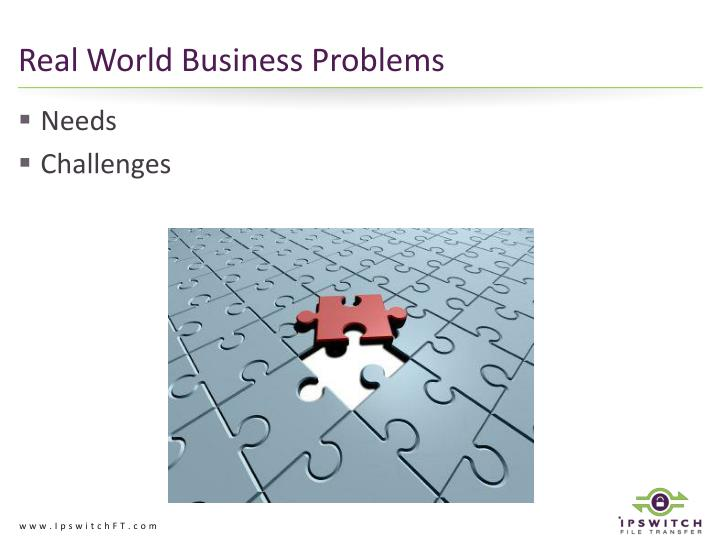 Real World Business Problems