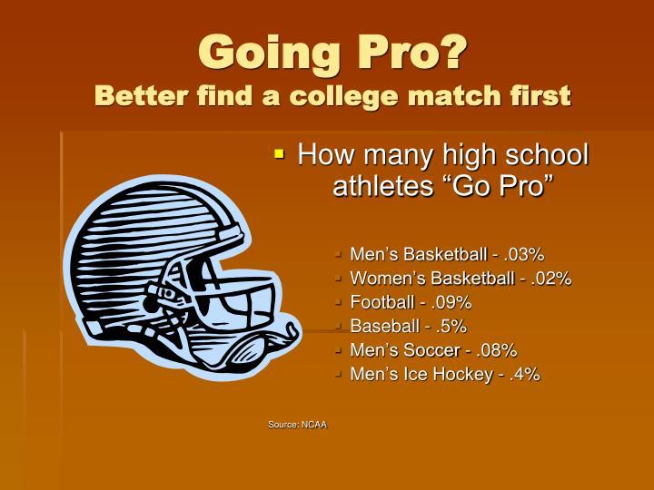 Going Pro?