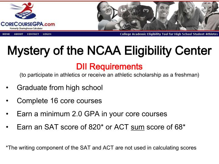 Mystery of the NCAA Eligibility Center