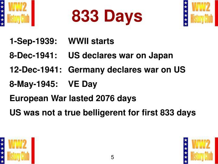 833 Days