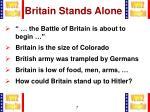 britain stands alone1