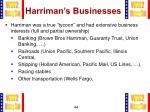 harriman s businesses