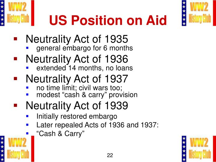 US Position on Aid
