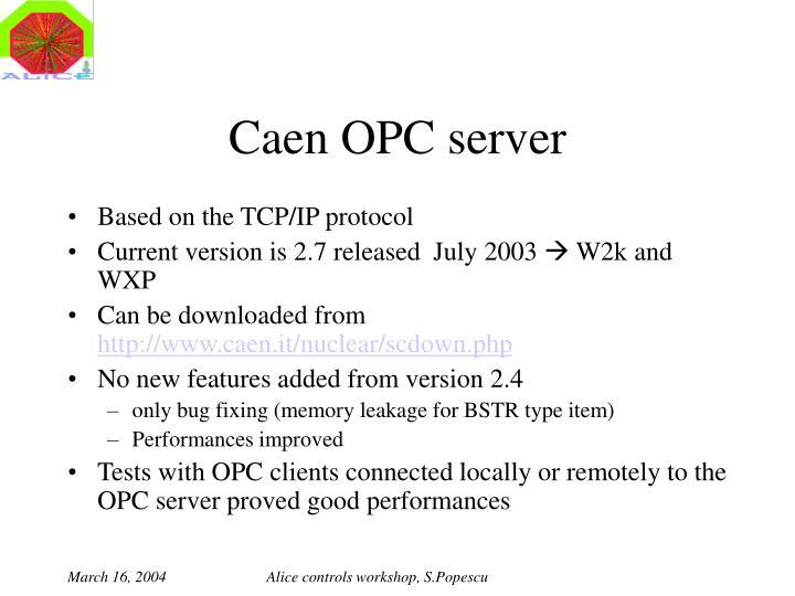 Caen OPC server