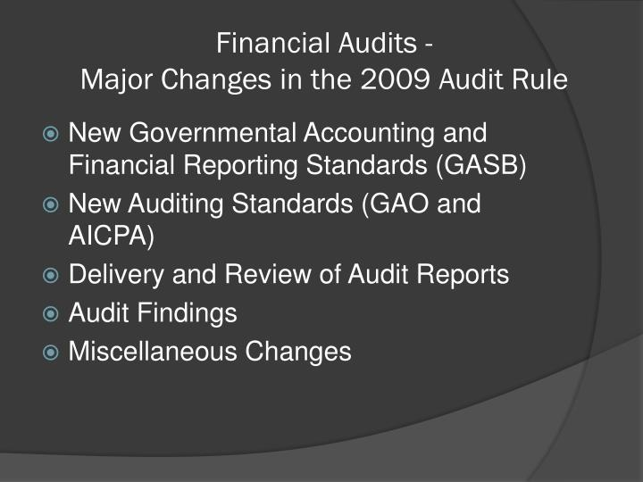 Financial Audits -